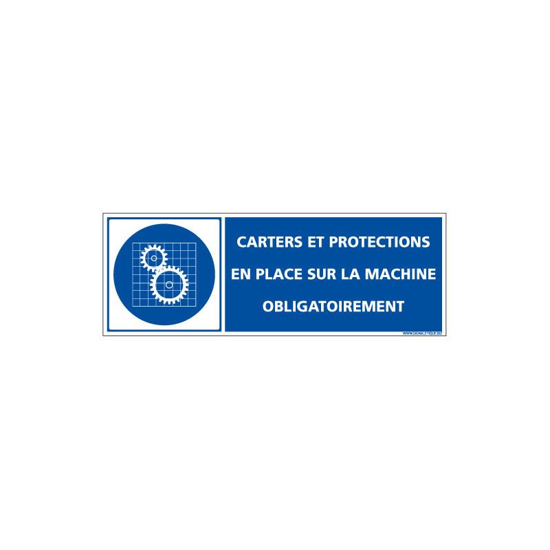 PANNEAU CARTERS ET PROTECTIONS EN PLACE SUR LA MACHINE OBLIGATOIREMENT (D1328)