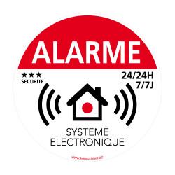 Autocollant alarme avec système électronique