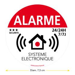 Sticker alarme de 7,5 cm de diamètre