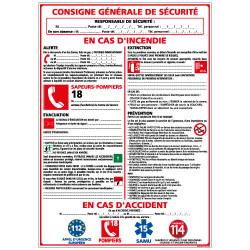 Panneau CONSIGNE GENERALE DE SECURITE (A0320)