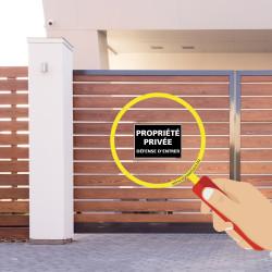 Panneau Propriété Privée, Défense d'Entrer indiquant un espace privé