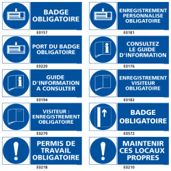 Panneau de signalisation d'Obligation du travail