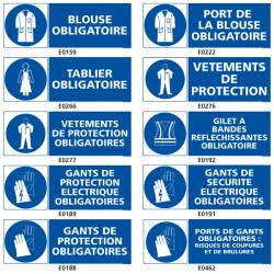 Signalisation d'obligation de protection du corps