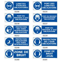 Signalisation de protection du visage obligatoire