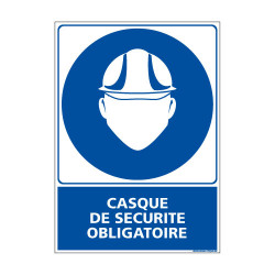 Panneau Obligation Casque de Securite Obligatoire (E0299)