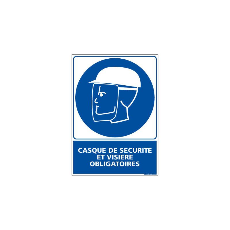 Panneau Obligation Casque et visiere Obligatoires (E0301)