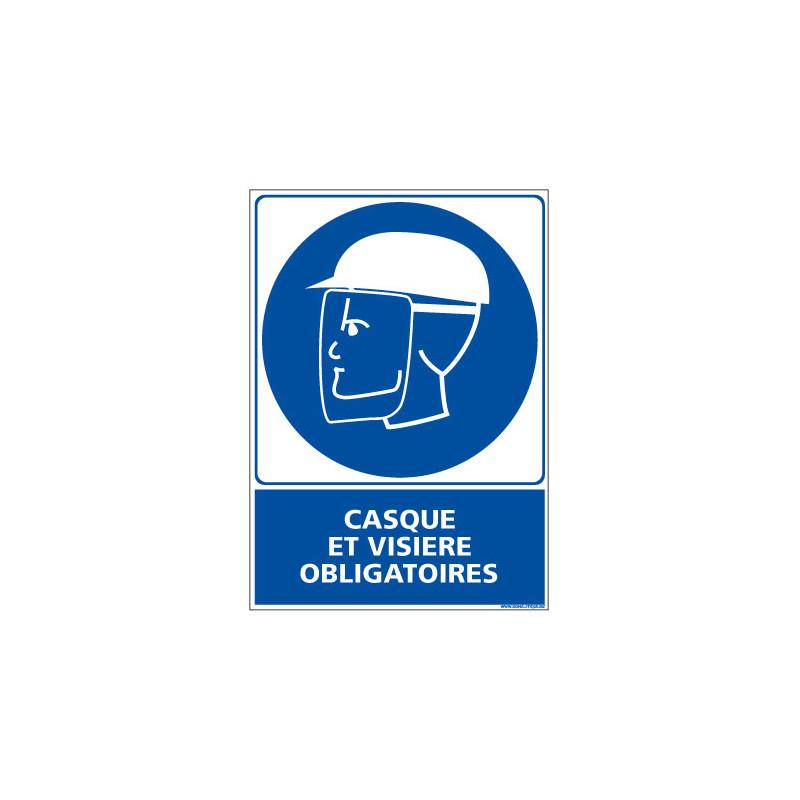Panneau Obligation Casque et Visiere Obligatoire (E0302)