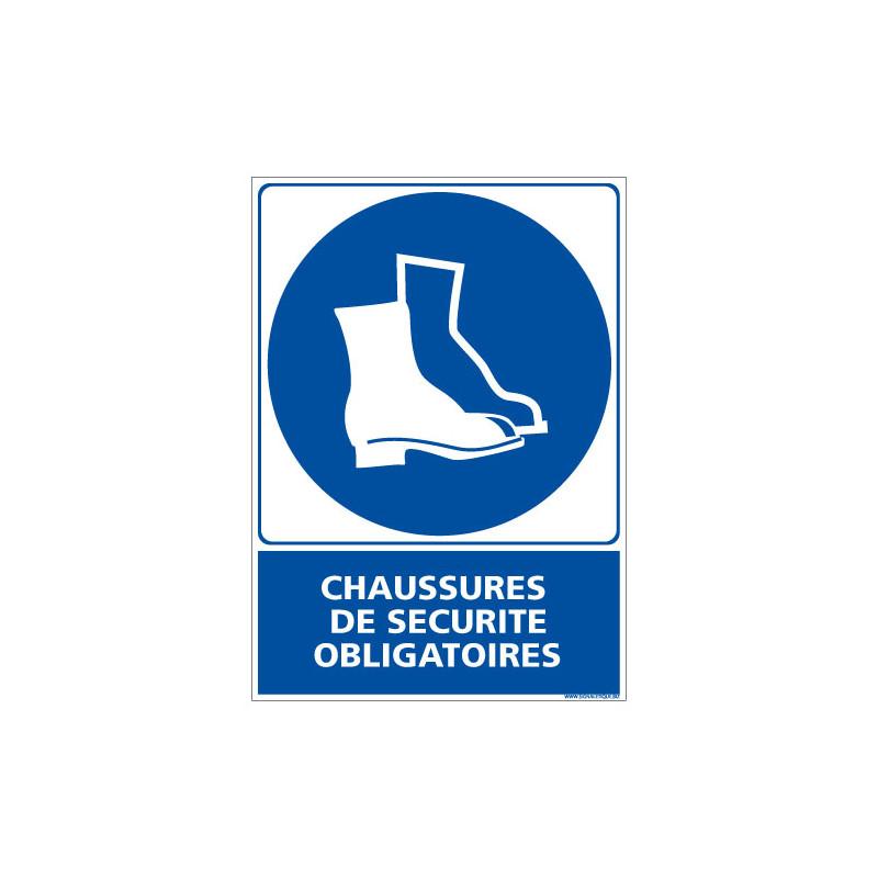 PANNEAU CHAUSSURES DE SECURITE OBLIGATOIRES (E0309)