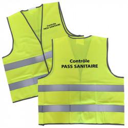 Gilet de sécurité contrôle du pass sanitaire