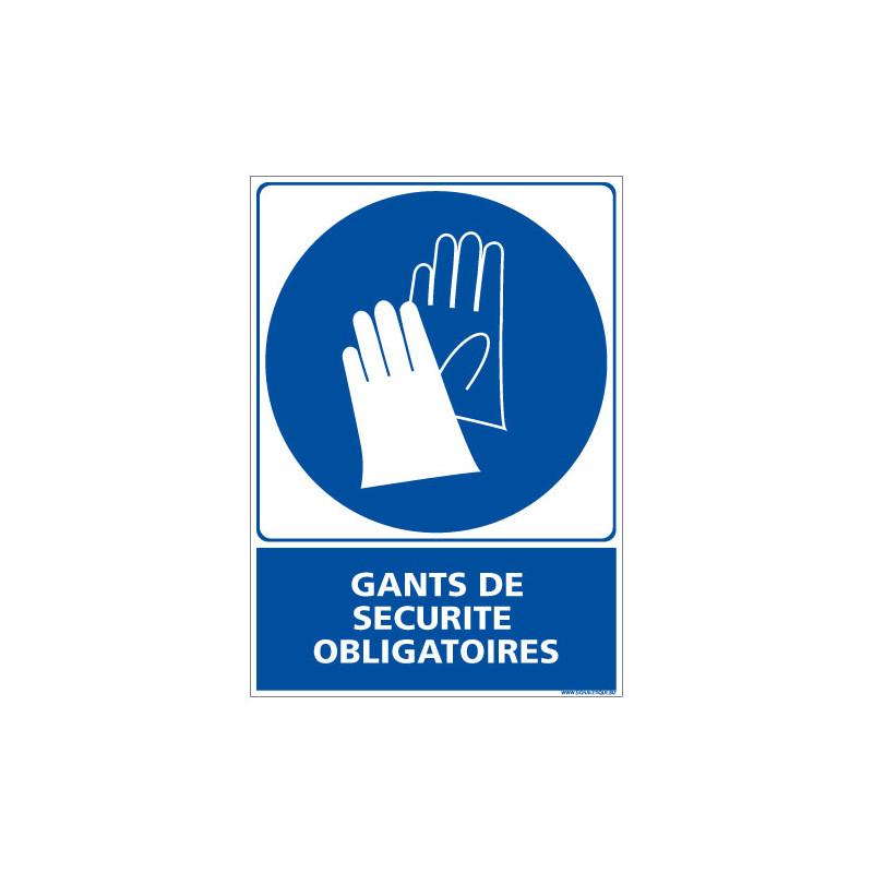 PANNEAU GANTS DE SECURITE OBLIGATOIRES (E0333)