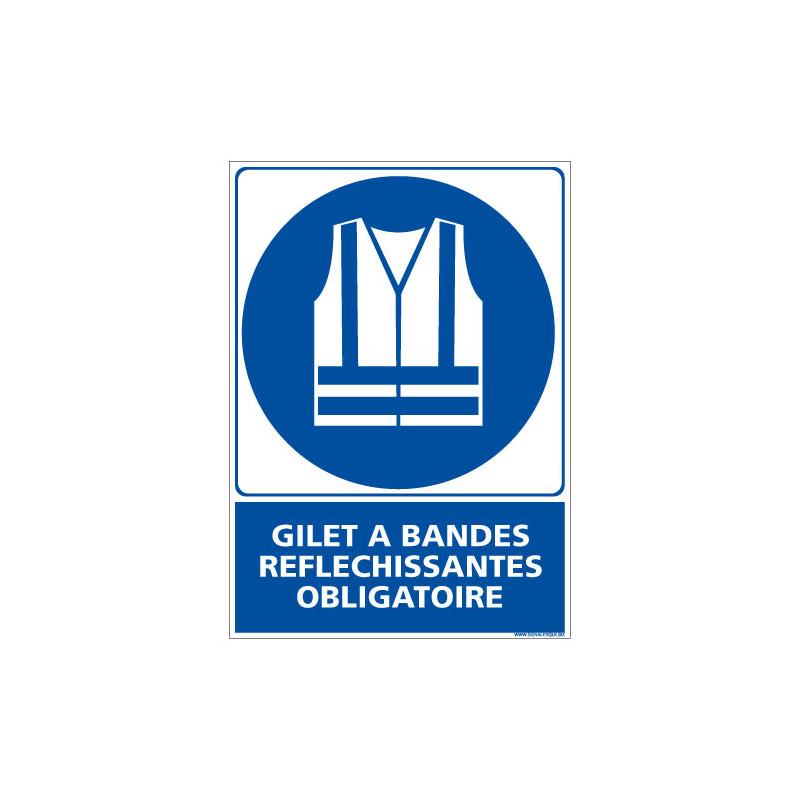 PANNEAU GILET OBLIGATOIRE (E0335)