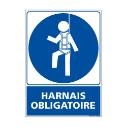 Panneau Obligation Harnais obligatoire (E0338)