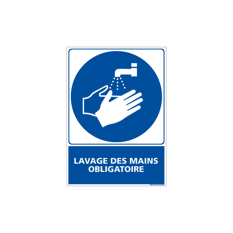 PANNEAU LAVAGE DES MAINS OBLIGATOIRE (E0341)