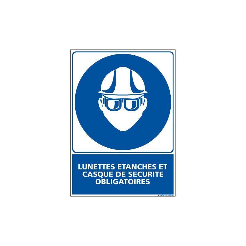 Panneau LUNETTE ETANCHES CASQUE DE SECURITE (E0349)