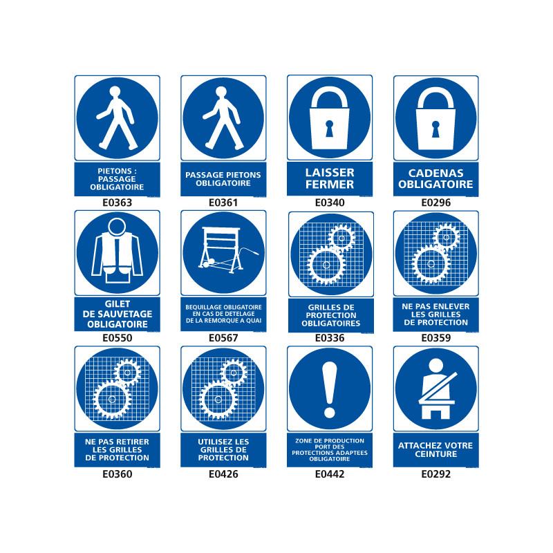 Panneaux de signalisation obligatoire