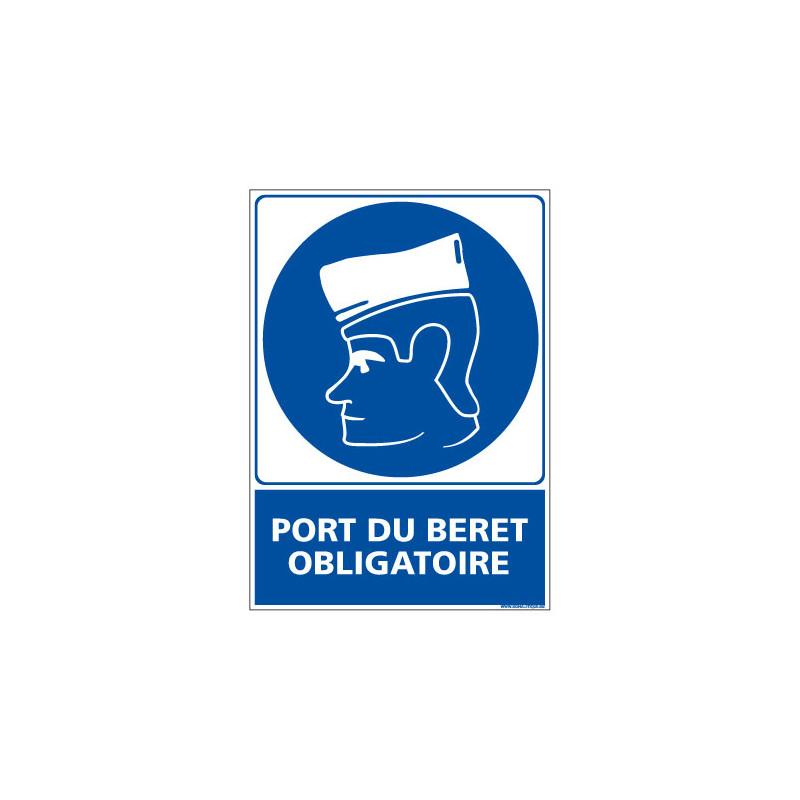 Panneau Obligation Port du beret obligatoire (E0365)
