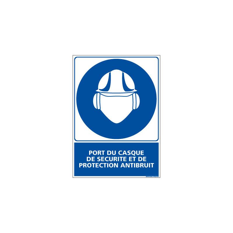 Panneau Obligation PORT DU CASQUE DE SECURITE & PROTECTION ANTIBRUIT (E0369)
