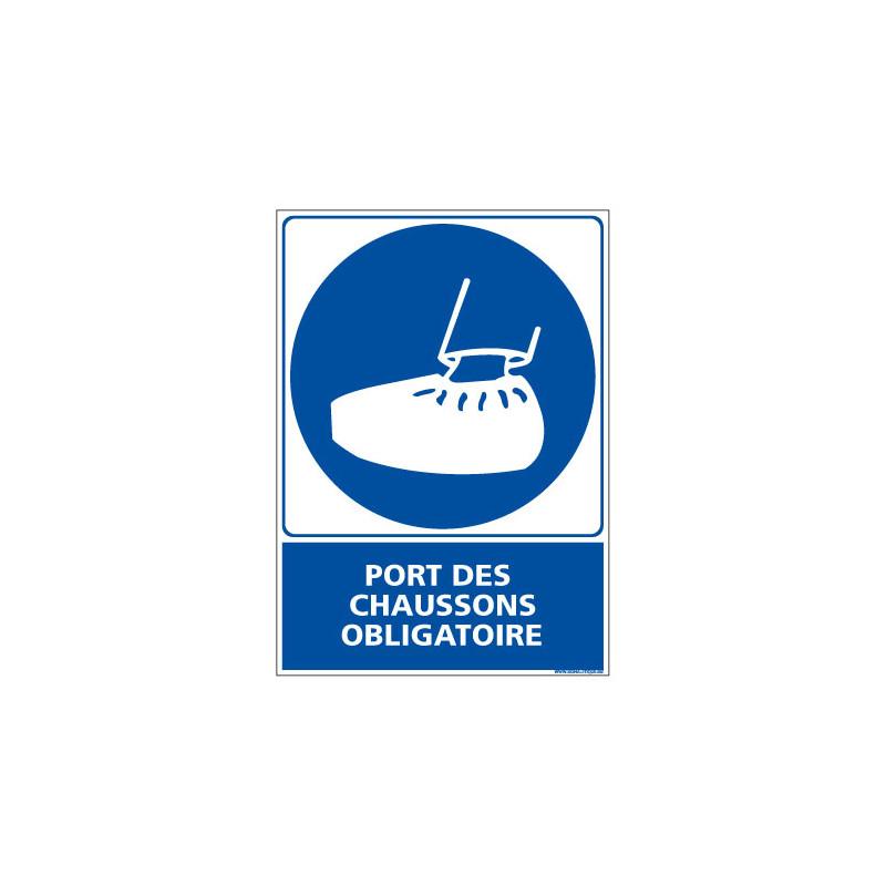 Panneau Obligation PORT DES CHAUSSONS OBLIGATOIRE (E0375)