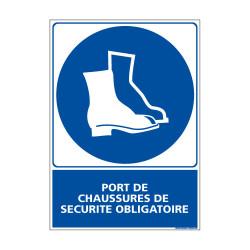 Panneau Obligation PORT DES CHAUSSURES DE SECURITE OBLIGATOIRE (E0377)