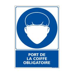 Panneau Obligation PORT DE LA COIFFE OBLIGATOIRE (E0378)