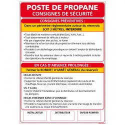 Panneau POSTE DE PROPANE (A0345)