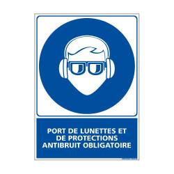 Panneau Obligation PORT DES LUNETTES ET PROTECTIONS ANTIBRUIT OBLIGATOIRE (E0387)