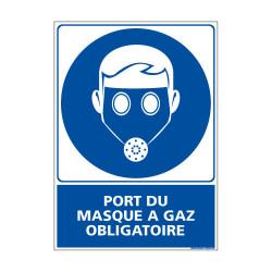 Panneau Obligation PORT DU MASQUE A GAZ OBLIGATOIRE (E0389)