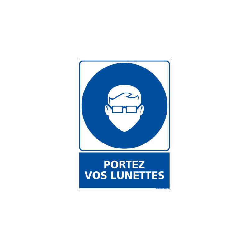 Panneau Obligation PORTEZ VOS LUNETTES (E0392)