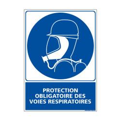 Panneau Obligation PROTECTION OBLIGATOIRE DES VOIES RESPIRATOIRES (E0396)