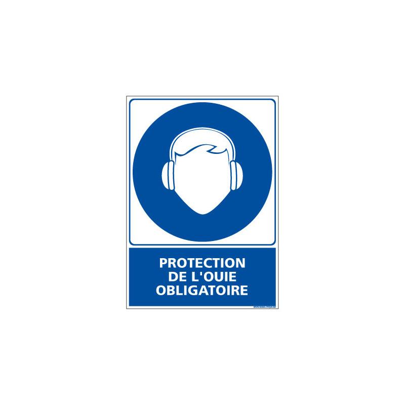 Panneau Obligation PROTECTION DE L'OUIE OBLIGATOIRE (E0398)