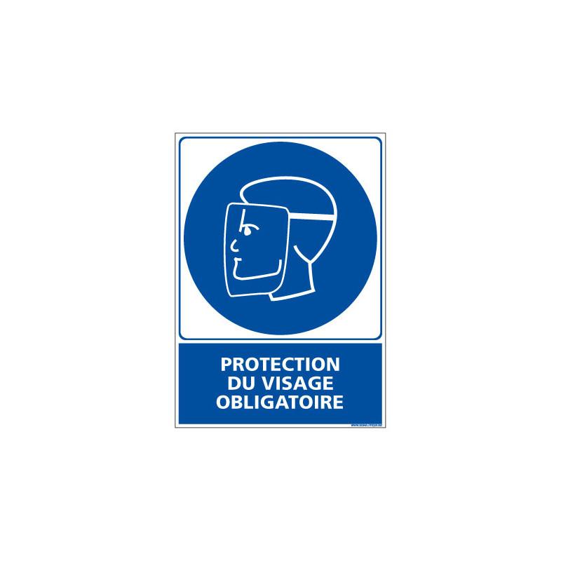 Panneau Obligation PROTECTION DU VISAGE OBLIGATOIRE (E0399)