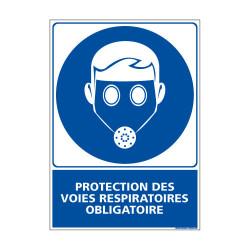 Panneau Obligation PROTECTION DES VOIES RESPIRATOIRES OBLIGATOIRE (E0400)