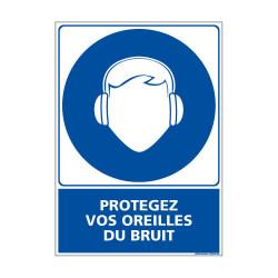 Panneau Obligation PROTEGEZ VOS OREILLES DU BRUIT (E0405)