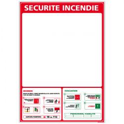 Panneau SECURITE INCENDIE (A0402)