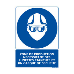 Panneau Obligation ZONE DE PRODUCTION - EPI (E0438)