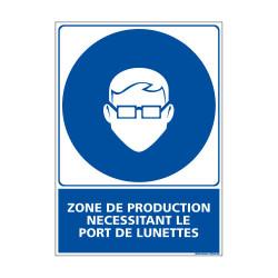 Panneau Obligation ZONE DE PRODUCTION - EPI (E0441)