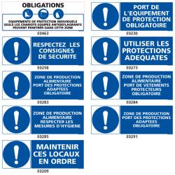 Panneaux d'obligation et de consigne