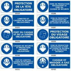 Signalisation d'obligation de protection de la tete