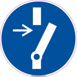 Panneau OBLIGATION DE DEBRANCHER (E0596)