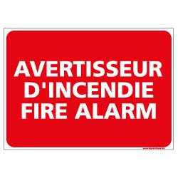 Panneau avertisseur d'incendie fire alarm (A0408)