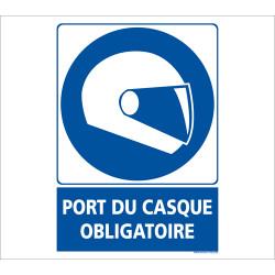 Panneau OBLIGATION DE METTRE SON CASQUE (E0598)