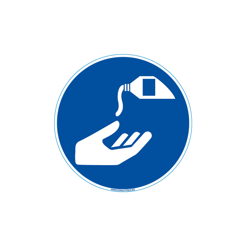 Panneau Lavage des mains au Gel hydroalcoolique (E0600)