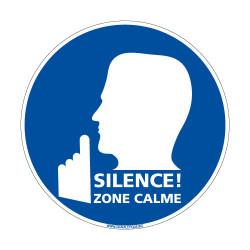Panneaux d'obligation SILENCE! ZONE CALME (E0617)