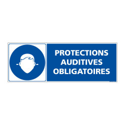 Panneau PROTECTIONS AUDITIVES OBLIGATOIRES (E0618)
