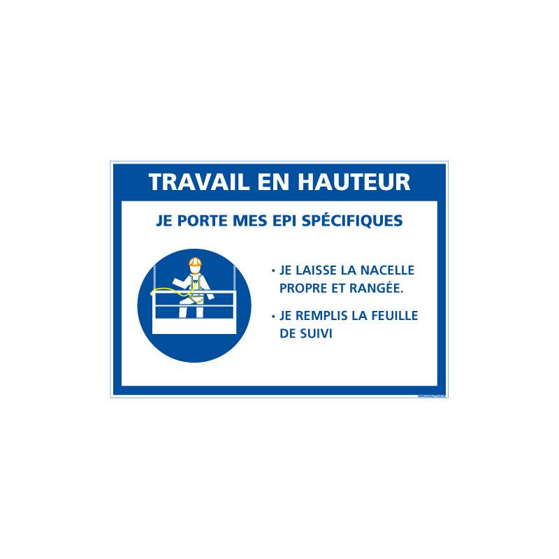 PANNEAU TRAVAIL EN HAUTEUR (E0626)