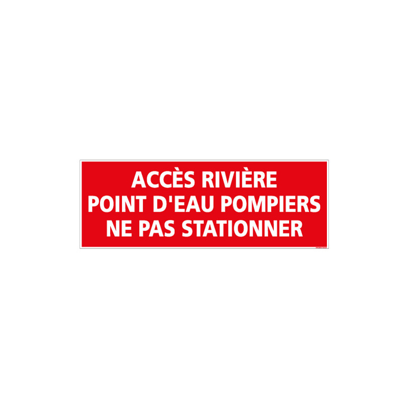 Panneau point d'eau pompiers (A0411)