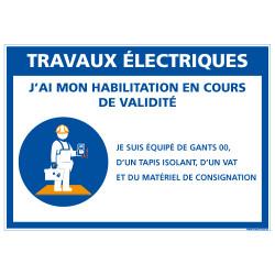 PANNEAU TRAVAUX ELECTRIQUES (E0628)
