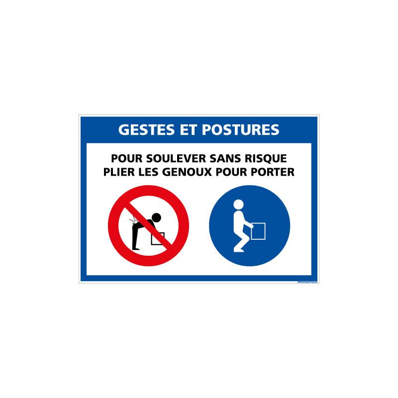 PANNEAU GESTES ET POSTURES (E0634)