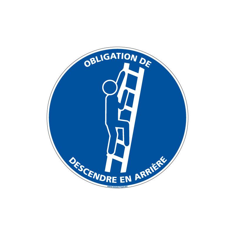 Panneau Obligation de descendre en arriere (E0639)