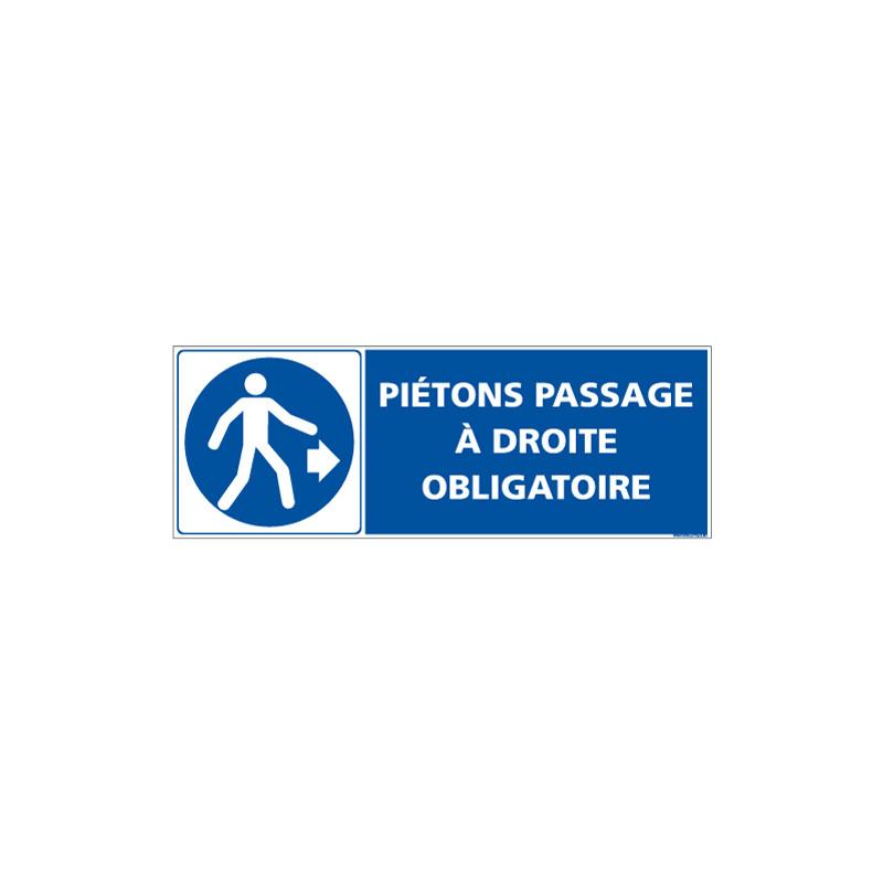 PANNEAU PASSAGE PIETONS DROITE (E0640)